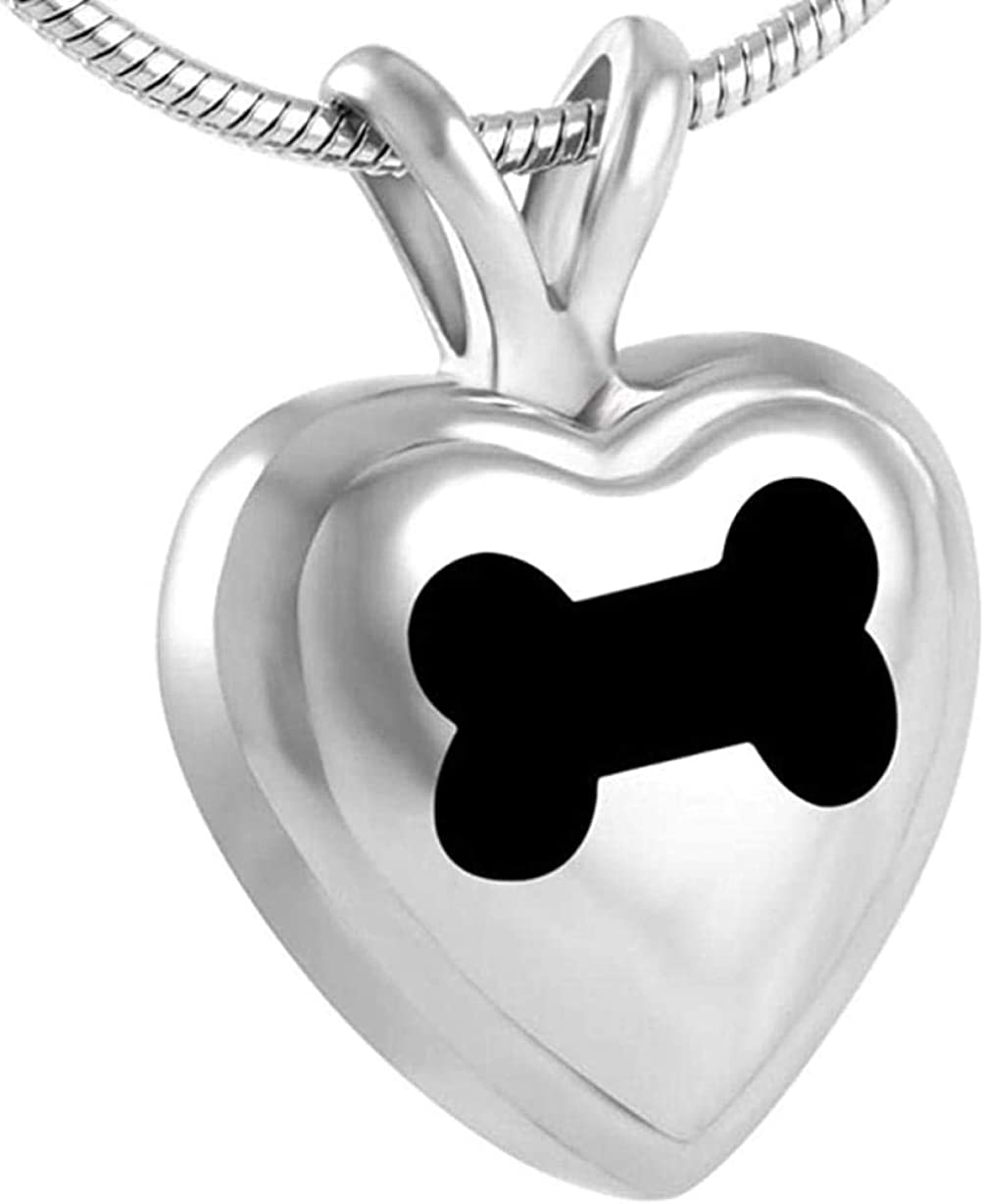 Cremation Memorial Ashes Urn Necklace Memorial Jewelry Pendant Necklace with Heart Cremation Urn Ashes Urns Cremation Keepsake Memorial