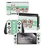 Animal Crossing: New Horizons - Tom Nook & Friends Nintendo Switch Skin Bundle - Nintendo Switch