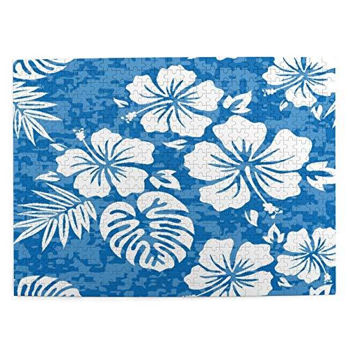 CVSANALA Rompecabezas con Imágenes 500 Piezas,Flor Aloha Hawaiian Hibiscus Hawaii Surf Polinesio,Educativo Juego Familiar Arte de Pared Regalo para Adultos,Adolescentes,Niños,20.4