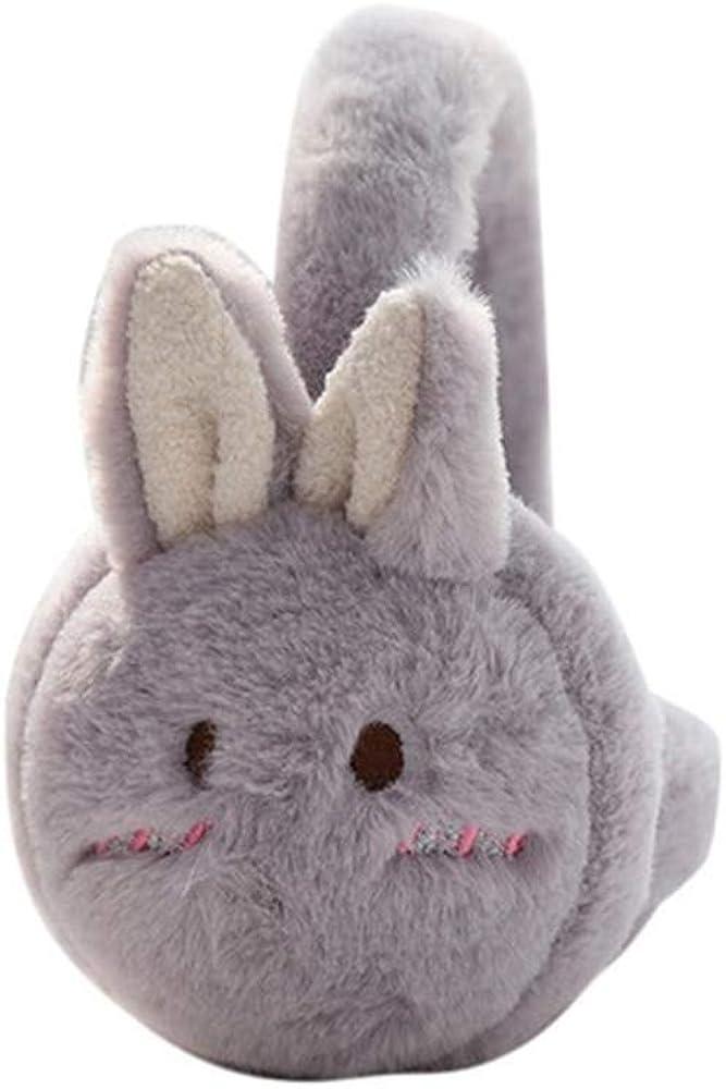 Tvoip Cute Cartoon Rabbit Ear Comfortable Adjustable Winter Warm Outdoors Ear Muffs for Women Girls
