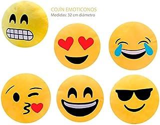 Lote de 6 Cojínes Emoticonos - Cojines Emoticonos Emoji