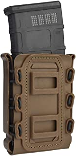 Risunpet 5.56mm 7.62mm Tactical Magazine Pouch Airsoft Hunting Shooting Molle Fastmag Softshell Mag Carrier Bag for M4 M16 AK Mag(Coyote Brown)