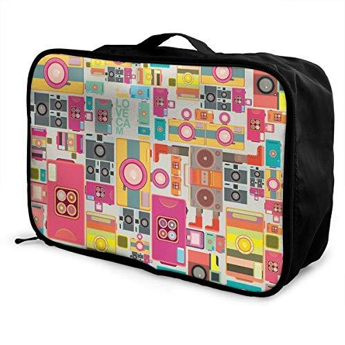 Qurbet Travel Duffel Bag, Lightweight Large Capacity Portable Duffel Bag for Men & Women Color Cameta Pattern Sport Duffel Bag Backpack