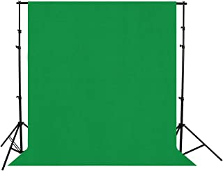 Green 6 x 9FT/1.8 x 2.8M Opaque Photo Backdrop Camera Photography Background Cloth Wrinkle Resistant for Portrait Photo Studio Video Shooting (Stand Not Included)