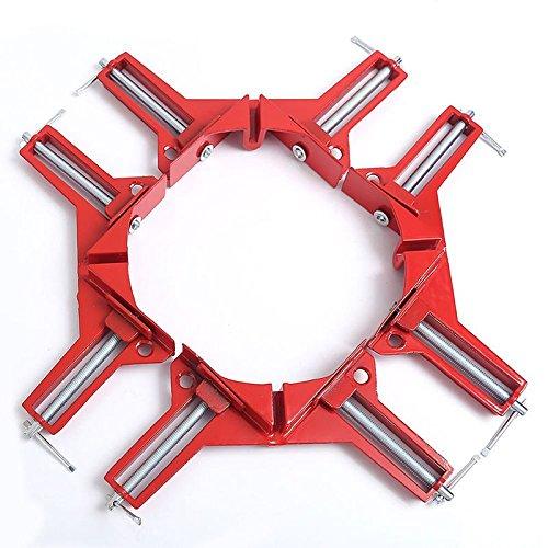 NUZAMAS - Juego de 4 abrazaderas de esquina para marcos de fotos (90 grados, 75 mm, ángulo recto)