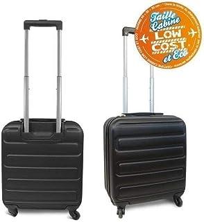dd43aaaf19 Kinston Valise Cabine Bagage Low Cost EasyJet Ryanair 50cm - 4 Roues Rigide  Noir
