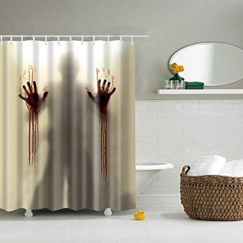 GWELL Top Qualität Anti-Schimmel Duschvorhang Digitaldruck inkl. 12 Duschvorhangringe für Badezimmer Art-G 180x180cm