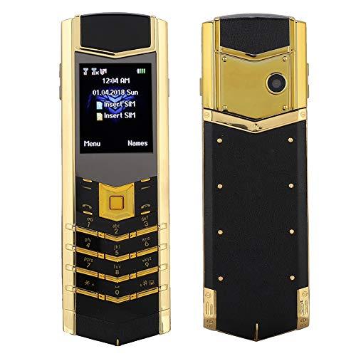 Annadue Metallgehäuse Gerades Geschäftstelefon, tragbare 1,8'2G Dual-SIM-Karte,...