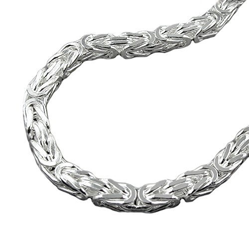 Kette 8mm Königskette vierkant glänzend Silber 925 70cm