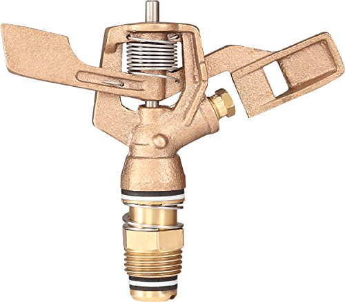 IrrigationKing RK-23 1/2' Brass Impact Sprinkler with Nozzle - 1/8', NPT Male, 4.6 GSM Maximum Flow Rate