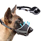 Homkeen Dog Muzzle Dog Mouth Cover, Soft Dog Muzzle Prevent for Biting Barking