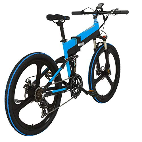 ZS ZHISHANG Electric Bikes for Adults Folding Electric Mountain Bike 400w Folding Electric Bicycle with 5inch LCD Meter And 26inch Wheel Aluminum Alloy 7 Speed Foldable Bike for Adult