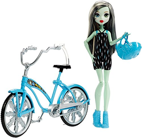 Monster High - Boltin' Bicycle Frankie Stein Puppe und Fahrrad