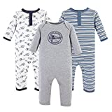 Hudson Baby Unisex Baby Cotton Coveralls, Aviation, 12-18 Months