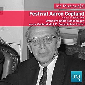 Festival Aaron Copland, Concert du 28/05/1955, Orchestre Radio Symphonique, Aaron Copland (dir), E. François (clarinette)