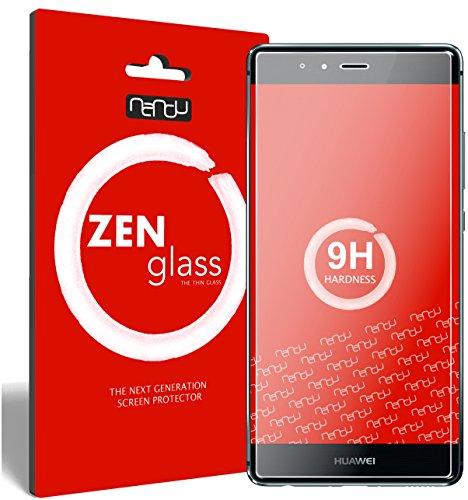 ZenGlass [2 Stück Flexible Glas-Folie kompatibel mit Huawei P9 Panzerfolie I Display-Schutzfolie 9H I (Kleiner Als Das Gewölbte Display)