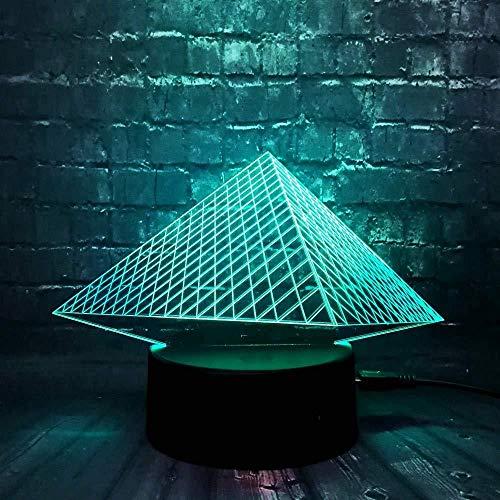 Kinderlampen voor slaapkamer nachtlicht 3D Lava Tourisme Egypte LED decoratie voor thuis baby dromen stemming kroonluchter tafel nachtlampje geschenk voor kinderen met 3D-afstandsbediening