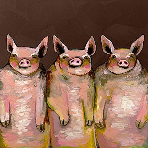 Greenbox Art Culturegreenbox Art Culture Little Piggies By Eli Halpin Canvas Wall Art 24 By 30 Dailymail