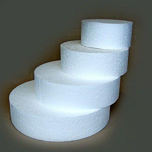 Lerouge en Vert 5420020606306 Gâteau Ronde, Polystyrène, Blanc, 30 x 30 x 7 cm