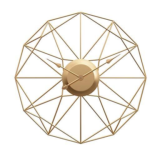 L.J.JZDY wandklok ijzeren wandklok eenvoudige creatieve wandklok in woonkamer, stille metalen wandklok (50cm, 60cm, 80cm in diameter)