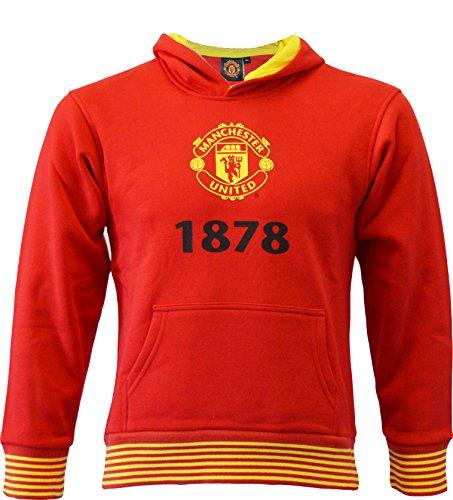 Sweat Kapuze MUFC–Offizielle Kollektion Manchester United FC–Größe Kinder Jungen 14 Jahre rot