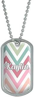 Dog Tag Pendant Necklace Chain Names Female Kat-Ke