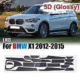 XKMY Interior Accessories 15pcs LHD de fibra de carbono adhesivo interior vinilo adhesivo para BMW X1 2012-2015 3D/5D (color : tres colores de luz sin mando a distancia)