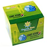 QualyQualy Fishing Glow Sticks for Bobbers, Fishing Bobber Lights, Fishing Rod Bell Alarm Lights, Bobber Glow Sticks 4.5X37mm 50 Packs