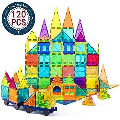 cossy Kids Magnet Toys Magnet Building Tiles, 120 Pcs 3D Magnetic Building Blocks Set, Educational Toys for Kids Children from COSSY