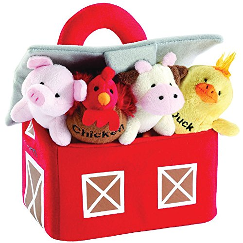 Barnyard Animals with Sounds Carrier Set by Animal House | Baby Gift | Toddler Gift