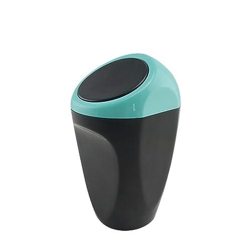 Auto Accessoires cuisine Mini Plastique Couverture Voiture Poubelle bacs de stockage (bleu)