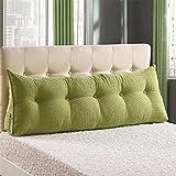 XX&YR Cuña triangular cojines de respaldo de noche, almohada de respaldo de cama tridimensional grande cojín de cabecero Tatami Reading Respaldo Cojín, algodón Pp lavable