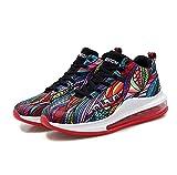 BAIDEFENG Zapatos Suaves de Alta Elasticidad,Zapatos de Hombre de Gran tamaño con Cordones de Color, Zapatillas de Deporte con colchón de Aire de Palma Completa-Color_39