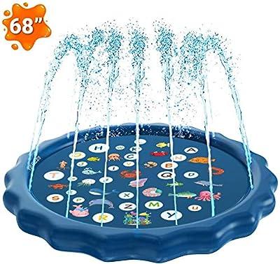 PROODI Inflatable Splash Pad Sprinkler for Kids Toddlers, Kiddie Baby Pool