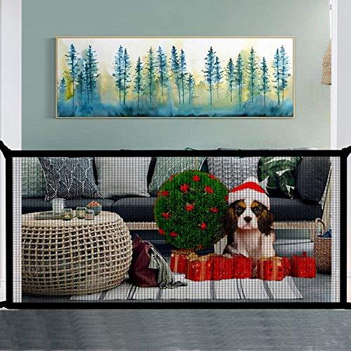 Magic Gate for Dog,Pet Dog Rete di Sicurezza Portatile Cani Barriera di Sicurezza Newest Isolamento Pet Safety Enclosure Net, Retrattile Animali Cancello Staccionate Auto Barriera (180 x 72cm)