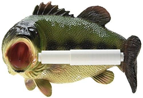 Design Toscano Holder-Reeling Trout Fish Rustic Toilet Paper Roll - Bathroom Wall Decor, Multicolor