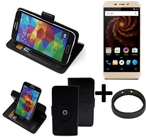 K-S-Trade® Case Schutz Hülle Für Allview X4 Soul Mini + Bumper Handyhülle Flipcase Smartphone Cover Handy Schutz Tasche Walletcase Schwarz (1x)