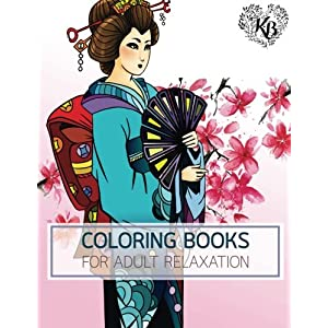 PRINCESS KIMONO Japan Dress Design Women Fashion Coloring Book: Anti stress Adults Coloring Book to Bring You Back to…