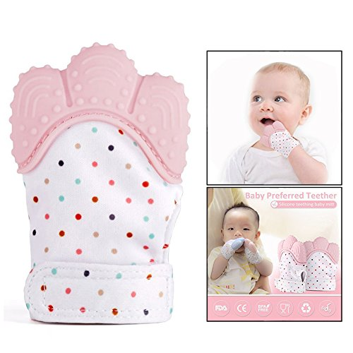 OFKPO Baby tanden, wanten handschoen, siliconen tanden, handschoen voor baby 3-18 maanden