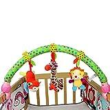 BABIGODS Baby Pram Crib Cute Musik Bett Aufhängen und Wiege Dekorationen Tier Löwe Mit Spiegel und Bell Colorful,B
