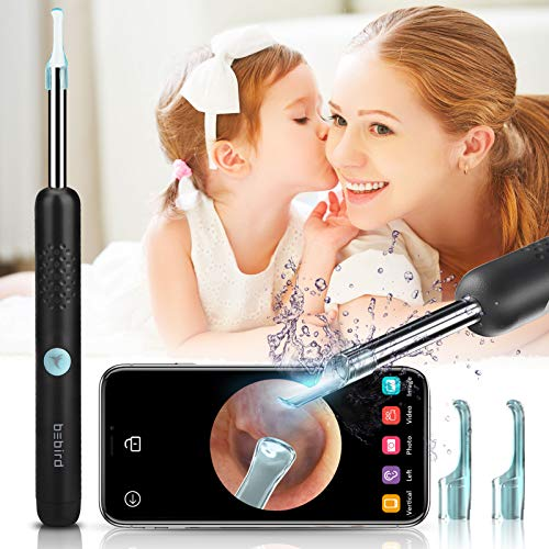 KToyoung Ear Wax Removal,Wireless Otoscope 1080P FHD Ear Camera Earwax Removal Tool with LED Lights,IP67 Waterproof Portable Ear Pick Kit Digital Ear Cleaning Endoscope for iOS Android Table Black