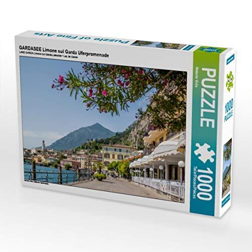 CALVENDO Puzzle GARDASEE Limone sul Garda Uferpromenade 1000 Teile Lege-Größe 64 x 48 cm Foto-Puzzle Bild von Melanie Viola