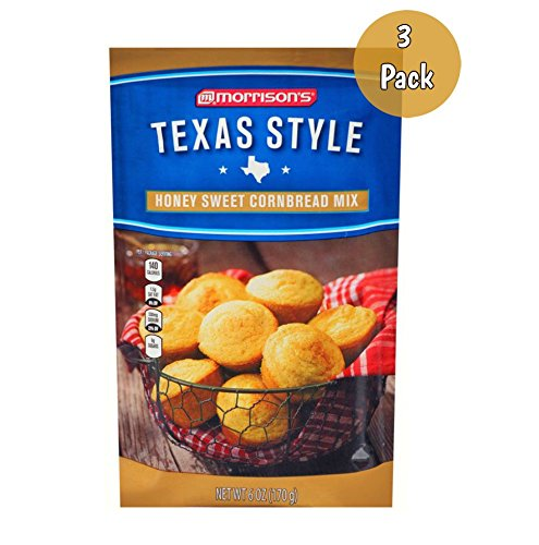Morrison's Texas Style Honey Sweet Cornbread Mix - 3 Pack (16oz)