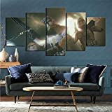 Imprimir imágenes enmarcadas 5 Piezas de Ciencia ficción Star Wars enmarcadas decoración de Obras...