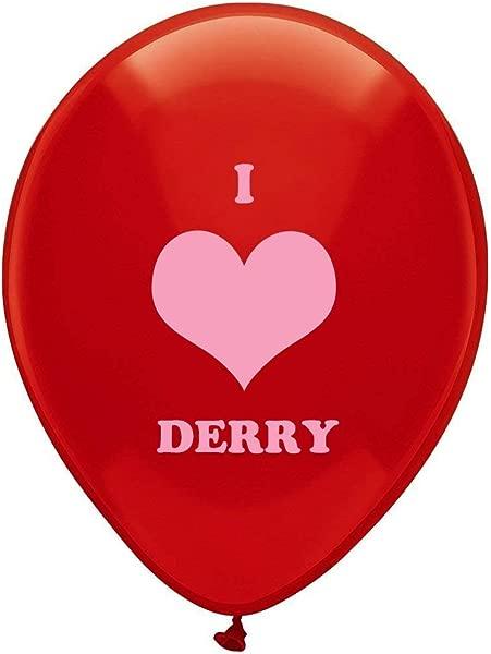 Suntunk Stephen King 的 It 小说书籍恐怖恶作剧道具我爱德里 (北爱尔兰) 派对装饰品 Cosplay 礼服搭配 12 英寸红色气球 25 个