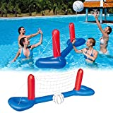 XIALIUXIA Inflatable Pool Volleyball Game Set, Floating Water Volleyball Game Swimming Pool with Adjustable Net And Balls for Adults And Kids