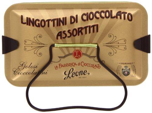 Lingottini di cioccolato assortiti in latta da 150g