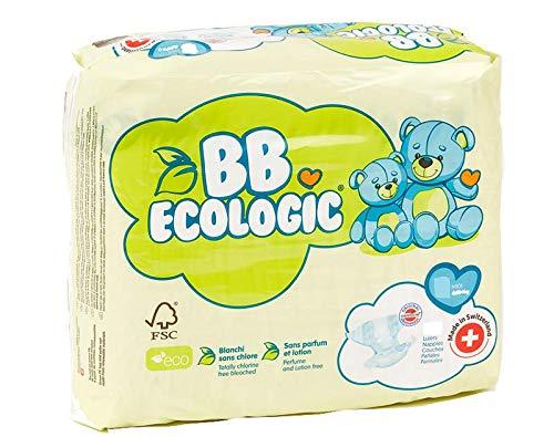 Couche Bébé écologique 4-9 kg / 2 paquets de 30 unités (biodégradable) certifié...