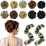Messy Bun Hair Piece Long Tousled Updo Fluffy Hair Ponytail Bun Maker Extensions Wrap Around DIY Scrunchie Curly Long Hairpiece Hair Band