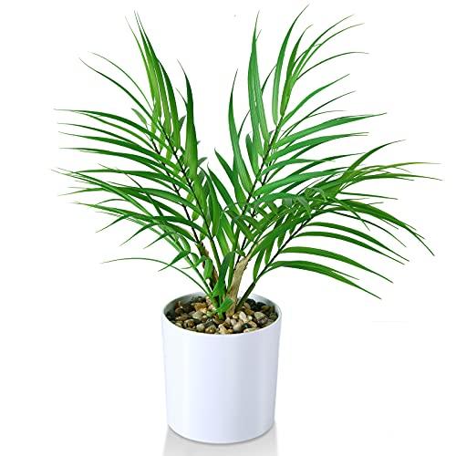 Mini Plantas Falsas en macetas, Palma de Areca Artificial de 40 cm para Oficina en casa, Hotel, librería, cafetería, decoración Moderna